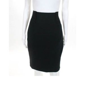 Zac Posen Black Stretch Pencil Skirt Size 4